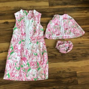 Lilly Pulitzer mommy and me set! Size 8 and 6/12